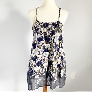 ANTHROPOLOGIE Lilka Floral Crochet Back Top